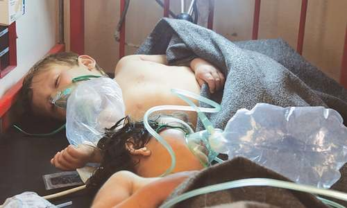 'Chemical attack' on rebel-held area in Syria kills over 50