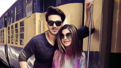 Ahsan Khan and Ayesha Omar shoot at Lahore train station for Rehbra