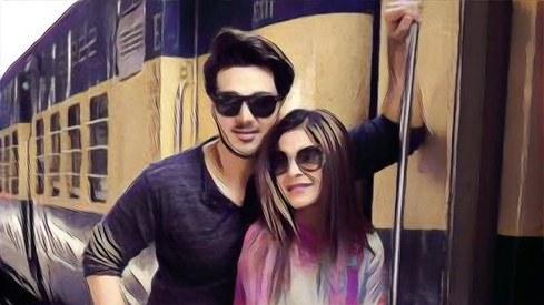 Ahsan Khan and Ayesha Omar shoot at Lahore train station for Rehbra