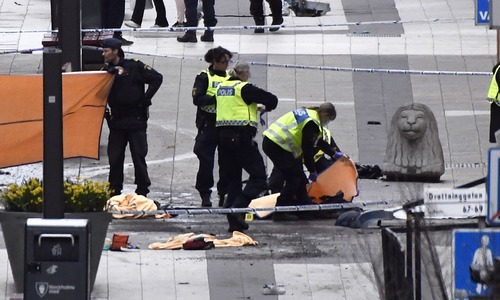 Four dead, man arrested in Sweden truck attack