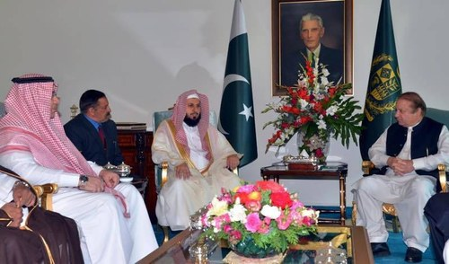 Imam of Makkah's Grand Mosque calls on PM Sharif, discusses 'negative propaganda' against Islam