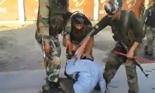 More videos emerge of Kashmiri youth being beaten by Indian forces