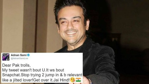 Adnan Sami's Snapchat tweet proves Pakistanis will never get over his 'new nationality'