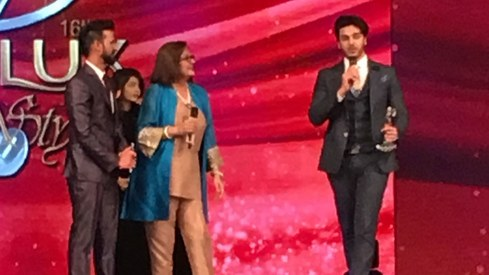 Ahsan Khan and Mahira Khan take a stand against hate and intolerance at LSA 2017