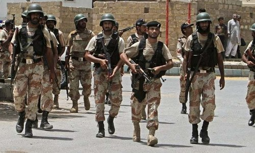 Sindh government extends Rangers' powers for 90 more days