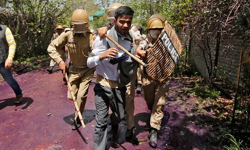 Police fire at student protesters in India-held Kashmir