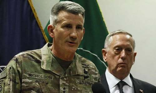US general in Afghanistan suggests Russia arming the Taliban
