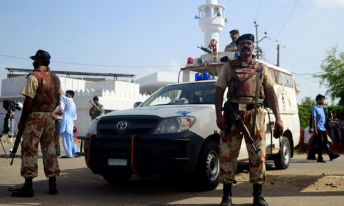 4 'militants' killed during hours-long Rangers operation in Karachi's Urdu Bazaar