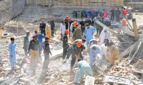 Two labourers buried alive as bakery building collapses