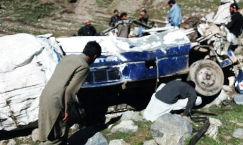 11 killed as van plunges into ravine in Upper Dir