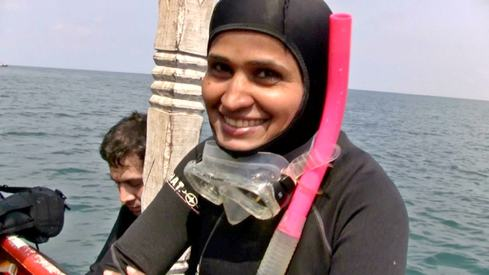 Mermaid of Churna Island tells the story of Pakistan's only female scuba-diving instructor