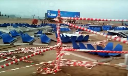Over 100 injured as TV show stage collapses