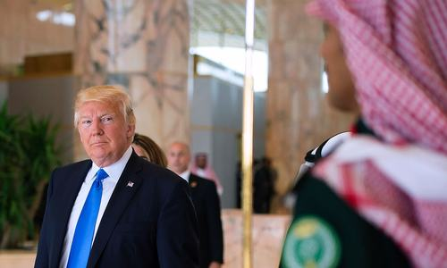 In pictures: The Trumps touch down in Saudi Arabia