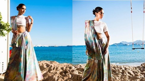 Sonam Kapoor says she has no time for Cannes prep, still shows up in a showstopping sari