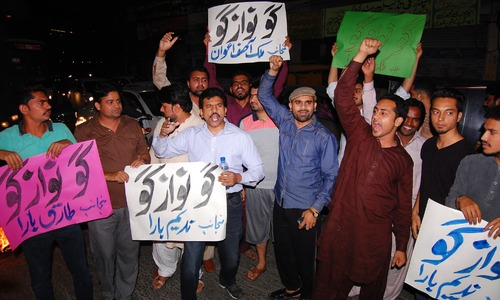 PTI holds countrywide protests against 'harassment' of party workers by LEAs
