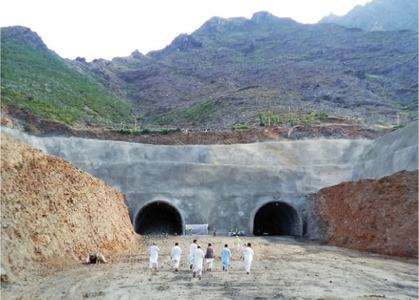 Khattak opens work on twin tunnels