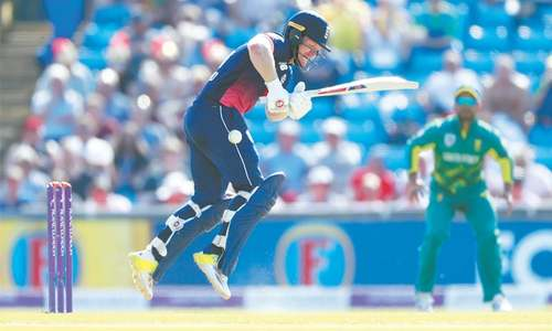Morgan, Ali lift England to 339-6
