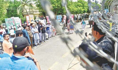 DHA residents protest water shortage