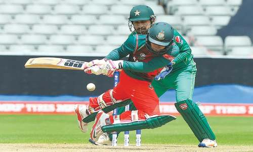 Ton-up Tamim makes Pakistan wilt in Champions Trophy warm-up
