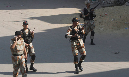 Five 'activists' among nine held in Rangers' raids