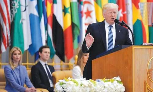 POLITICS: TRUMP CHANGES TONE