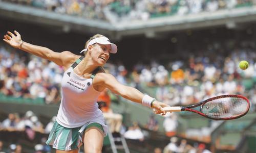 Kerber in historic loss as tearful Kvitova returns