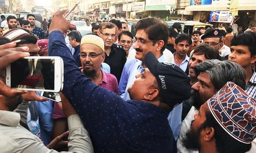 Sindh CM visits old Karachi area, vows action against artificial price hike