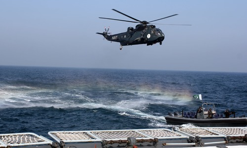 Pakistan's tool of surveillance, rescue: the Sea King helicopter