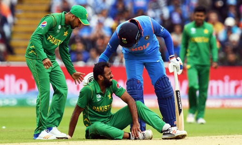 Rain rules the pitch as Pakistan and India face off