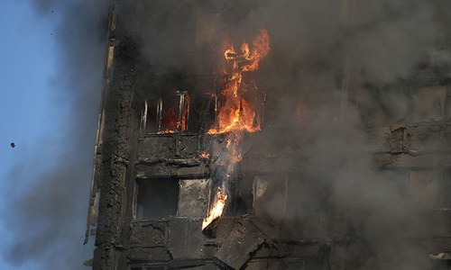 6 killed as deadly fire engulfs London tower block