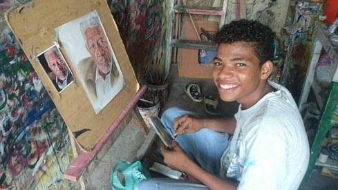 After his Morgan Freeman sketch went viral, Lyari's Jawad Baloch is dreaming big
