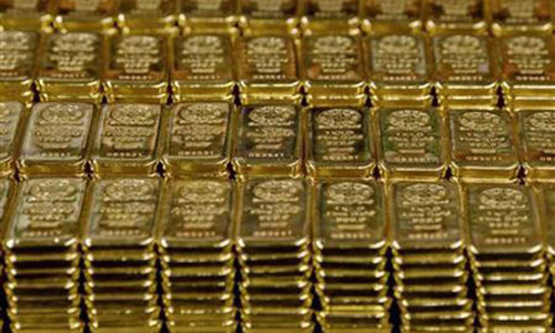 Gold hits four-week low