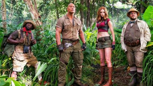 Jack Black and The Rock team up for Jumanji Reboot