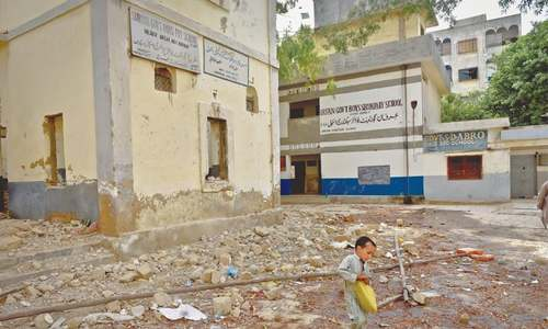 Students' future at stake as eight govt schools being razed surreptitiously