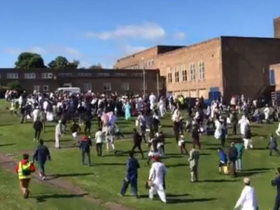 Six hurt as car hits Eid crowd in Newcastle, UK