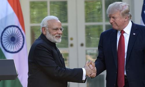 Bromance as Trump and Modi hail friendship at first talks