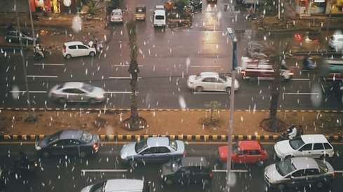 Karachi witnessed heavy rain last night and people couldn't handle it