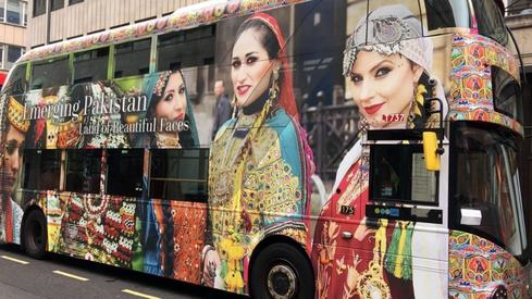 London buses get a Pakistani makeover