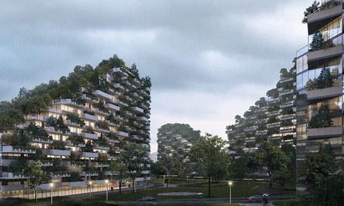 چین میں جنگل نما شہر کی تعمیر