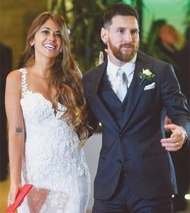 Football star Messi weds childhood sweetheart