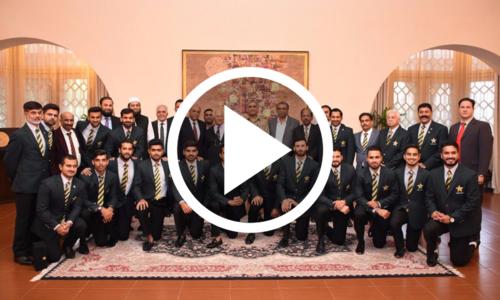 آرمی چیف کا چیمپیئن کرکٹرز کے اعزاز میں استقبالیہ
