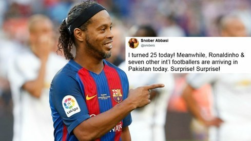 People are reacting to 'Ronaldinho and Friends' in Pakistan exactly like you'd expect them to