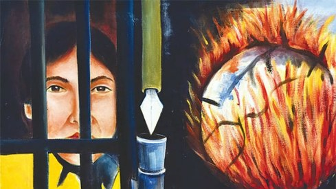 Karachi Central Jail inmates depict life behind bars through art