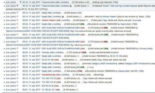 Revisions on Calibri's Wikipedia page since Monday night