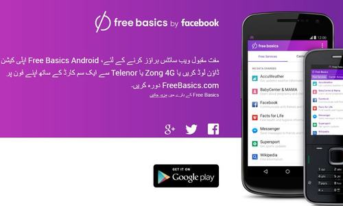 Freebasics.com homepage in Pakistan