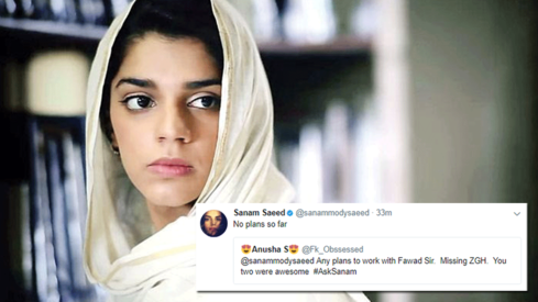 Sanam Saeed reveals upcoming projects in #AskSanam Twitter session