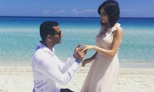 ارمینہ خان نے منگنی کرلی
