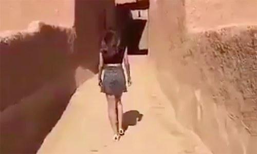 سعودی عرب : اسکرٹ کی ویڈیو منظرعام آنے پر خاتون گرفتار