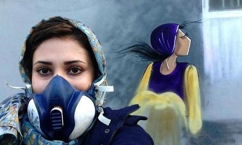 افغانستان کی اسٹریٹ آرٹسٹ خاتون