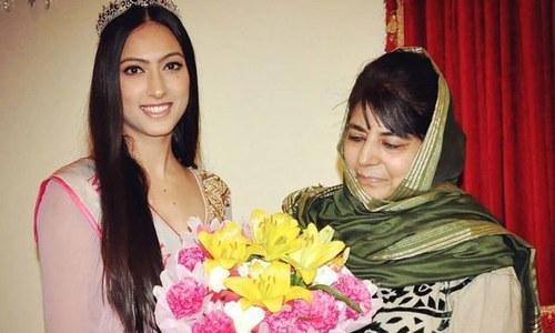 مقابلہ حسن میں کشمیری خاتون بھارت کی نمائندہ